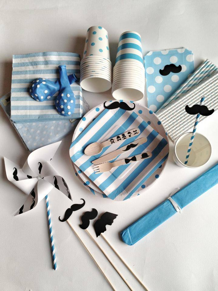 Baby shower in blu