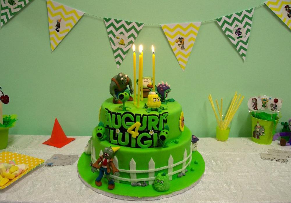 torta piante contro zombi