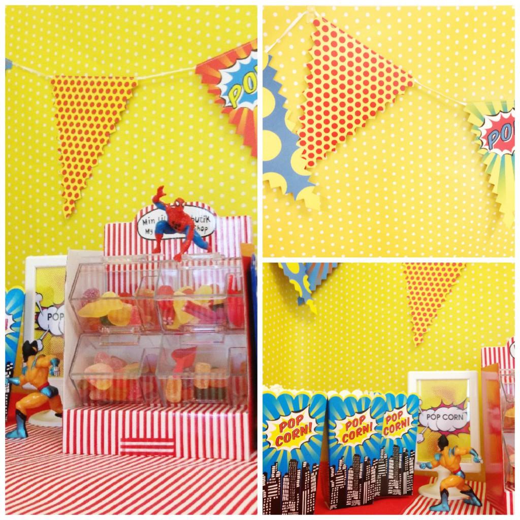 Pop superhero Collage
