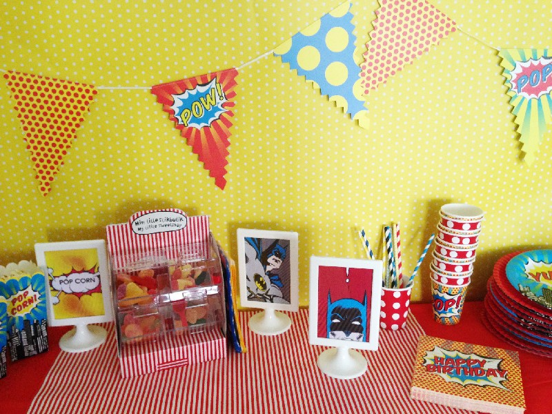 allestimento pop superheroes