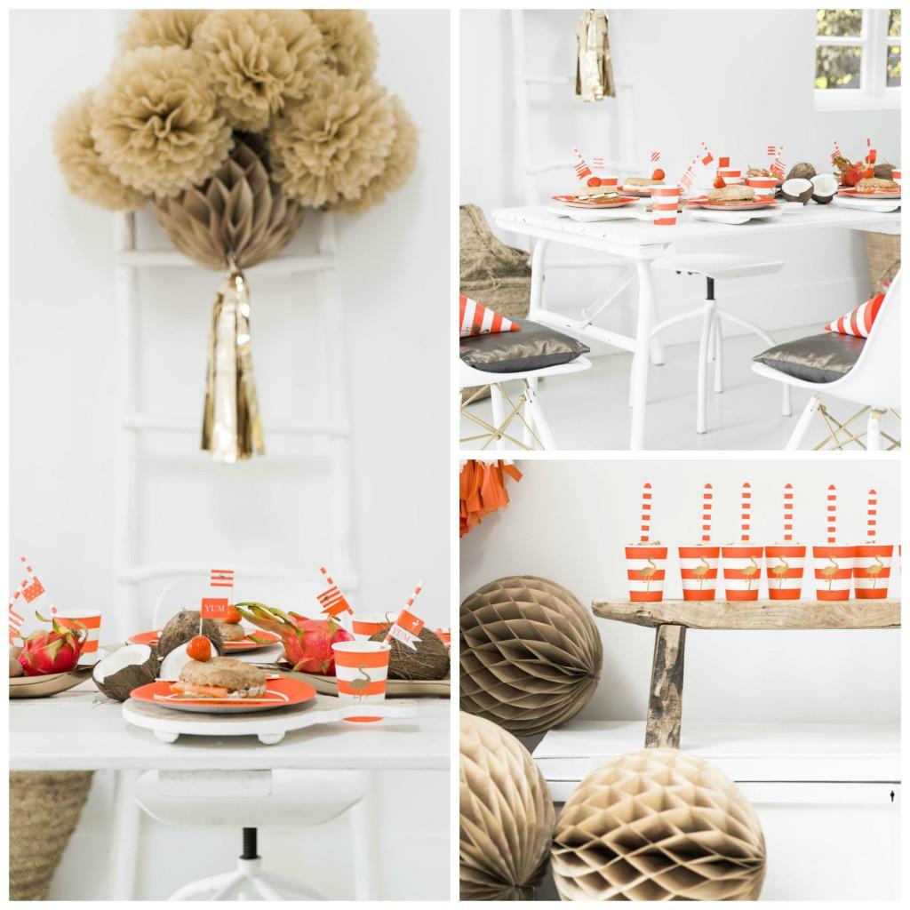 Flamingo Party Collage