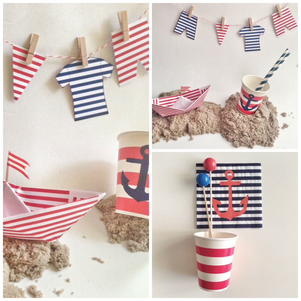 Nautical Party Collage