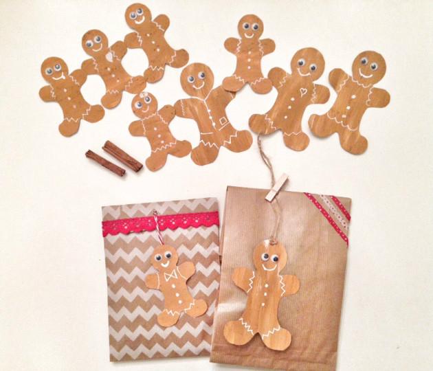 etichette profumate e pacchetti regalo natalizie