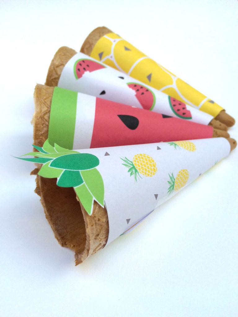 Cone Wrapper alla frutta