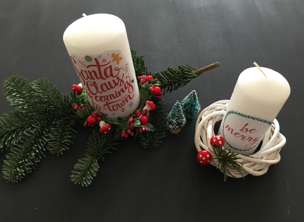 Candele decorate per il vostro natale e i vostri regali for Sedie decorate per natale
