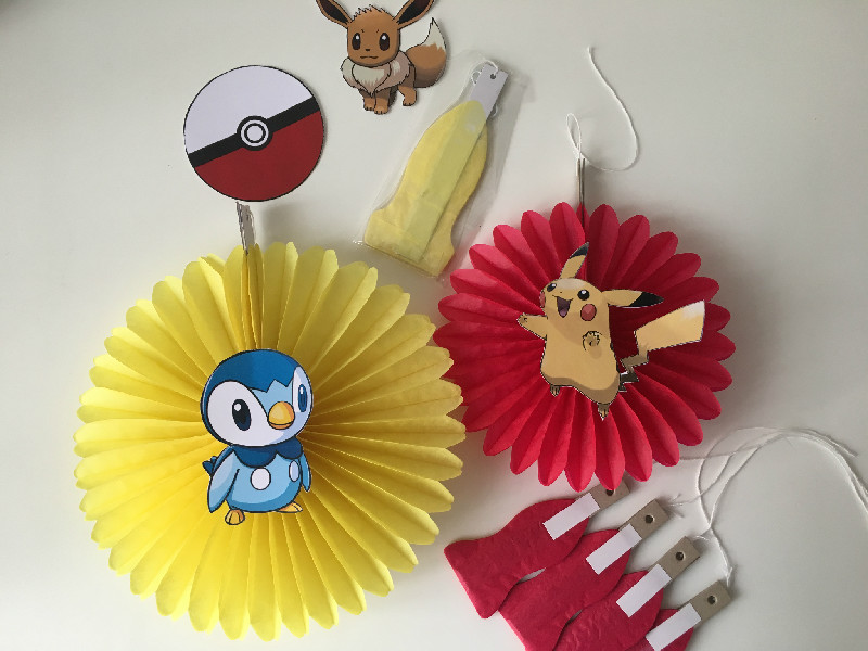 Pokemon party decorations diy