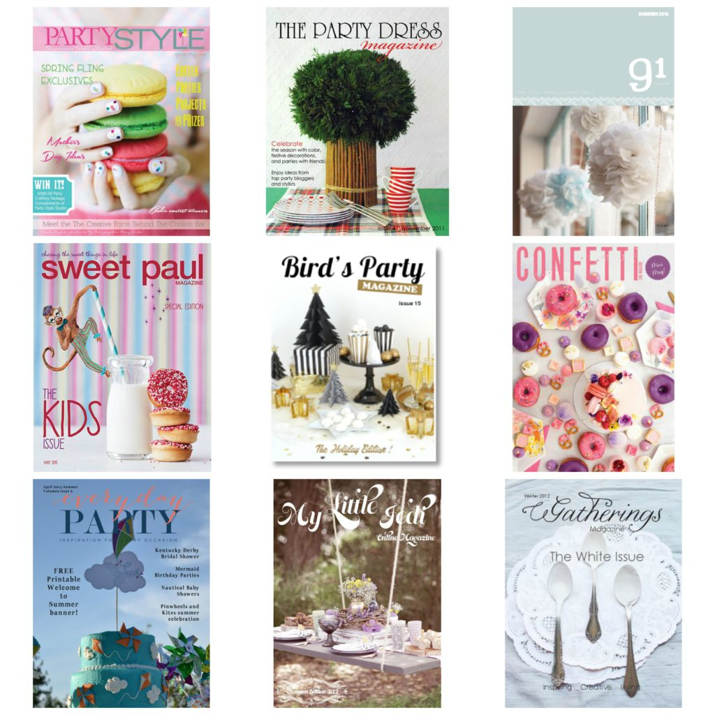 Party Magazines Collage
