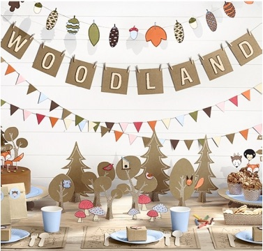 Woodland party_partydeco